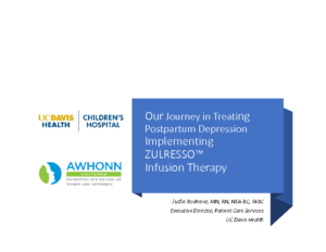Boehmer – Treating PP Depression Implementing ZULRESSO Infusion Therapy