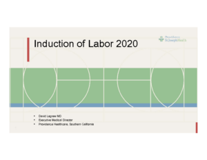LAGREW – Induction of labor 2020